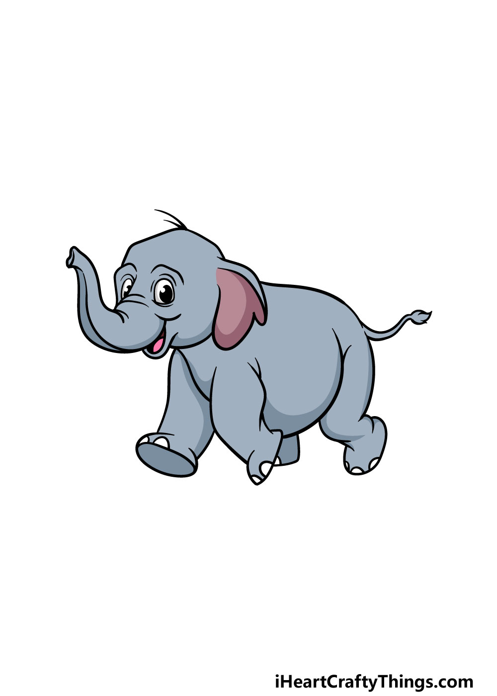 drawing a baby elephant step 6