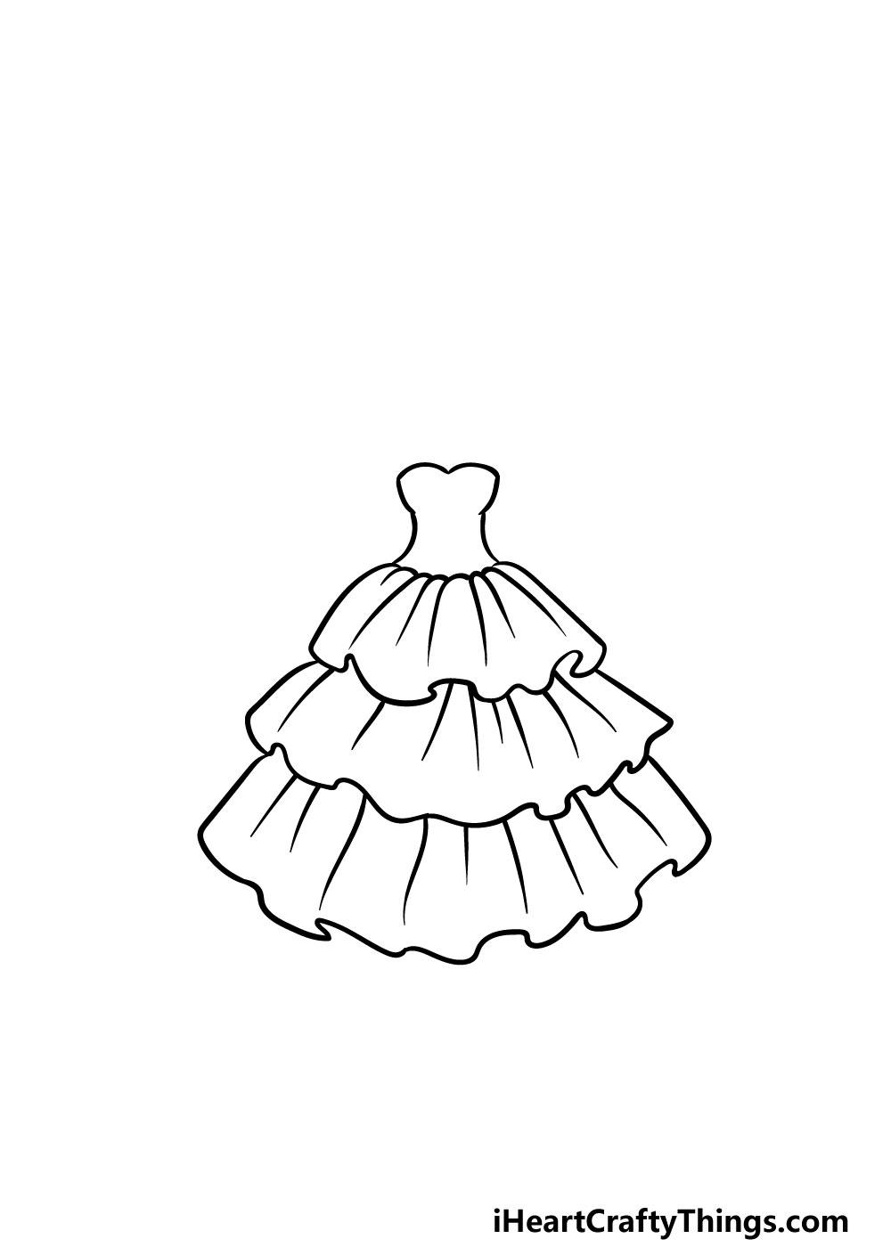 drawing ruffles step 6