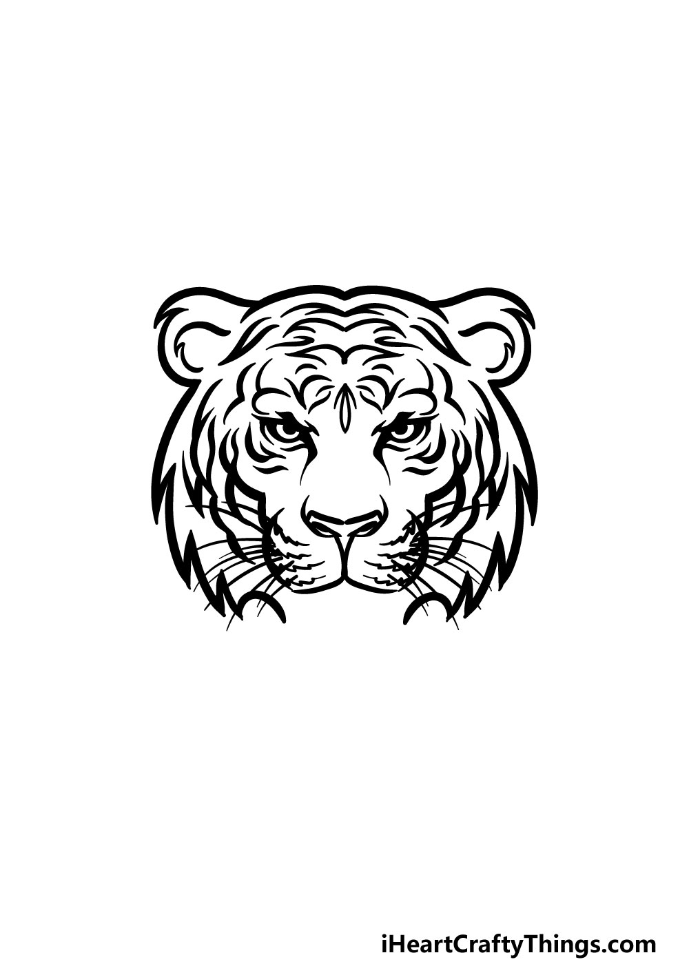 drawing tiger face step 6