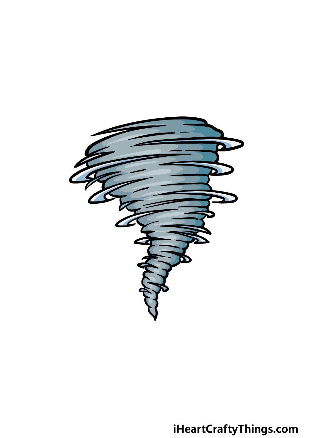 drawing a tornado step 6