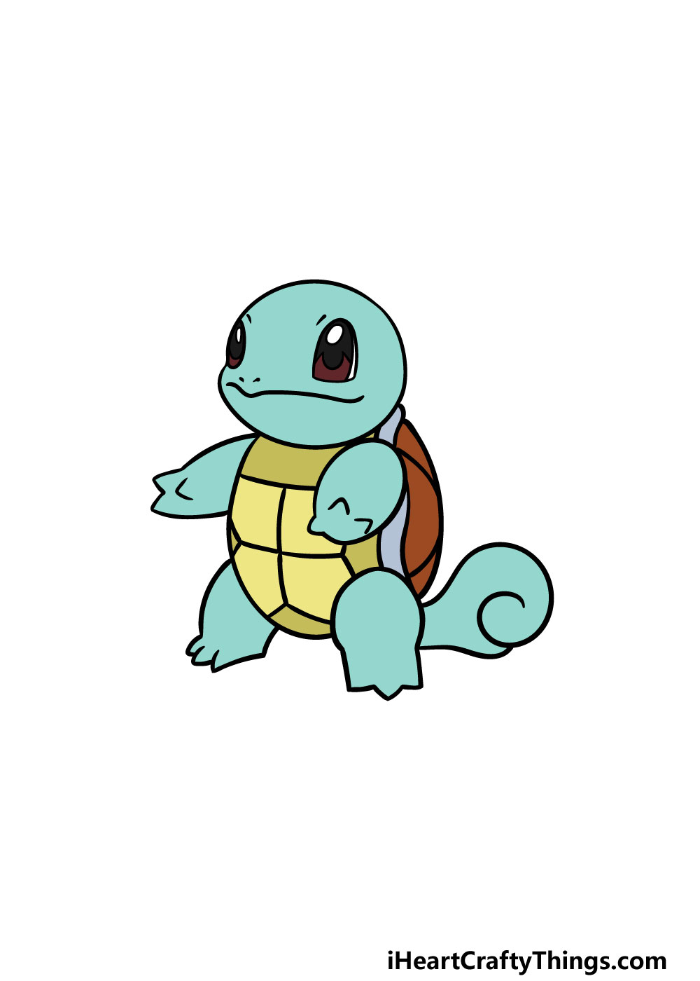 drawing squirtle step 6