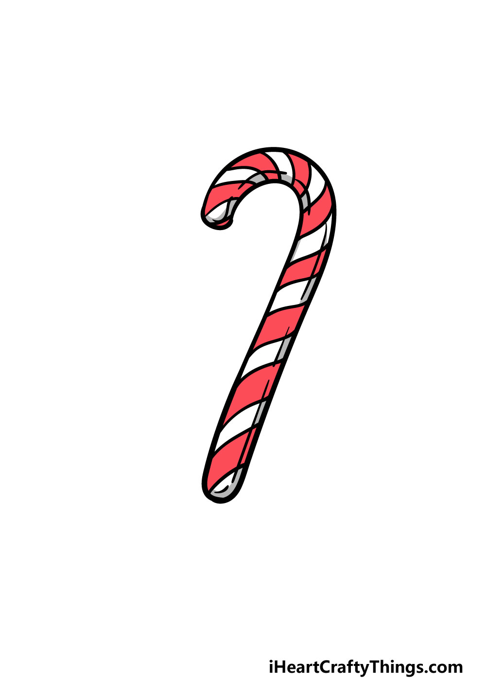 drawing candy cane step 6
