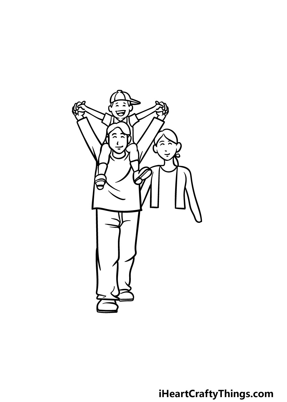 drawing a family step 6