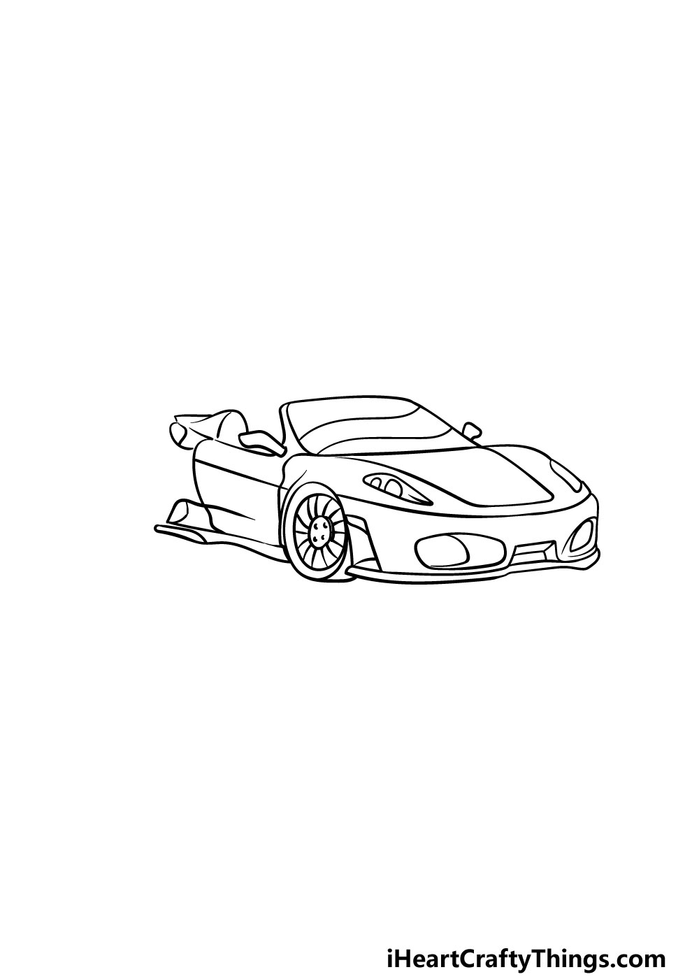 drawing a  ferrari step 6