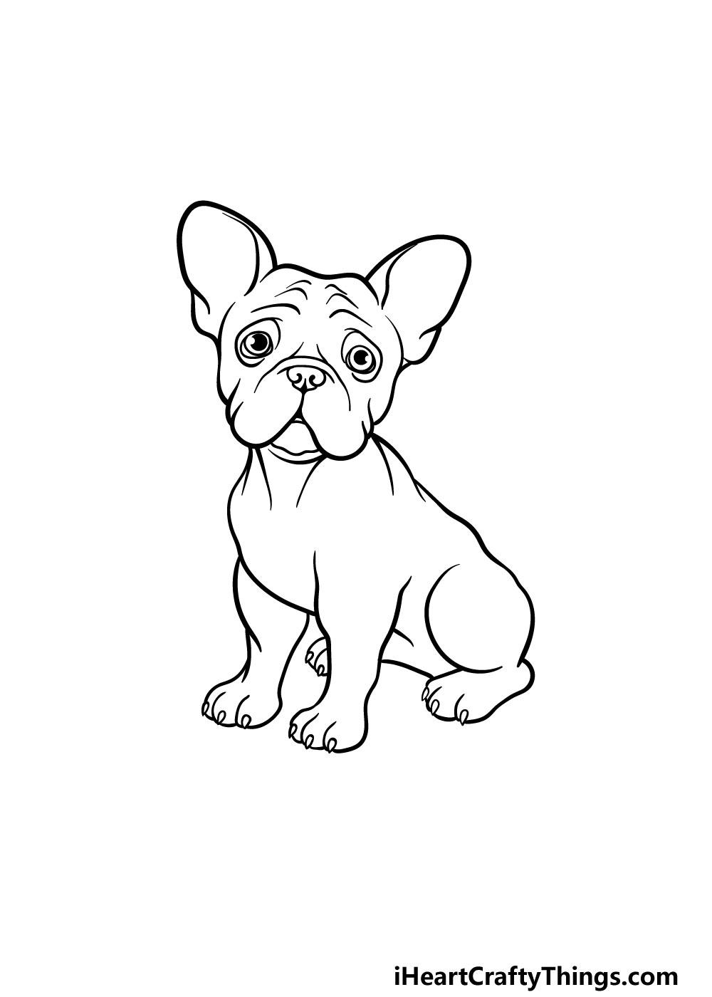 drawing a french bulldog step 6