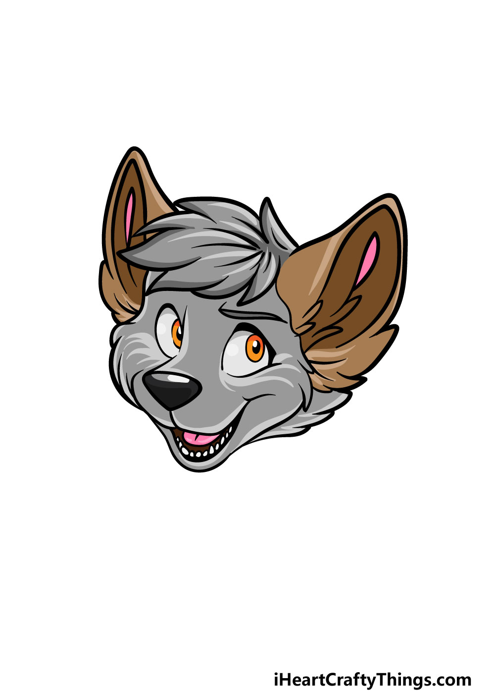 drawing a furry head step 6