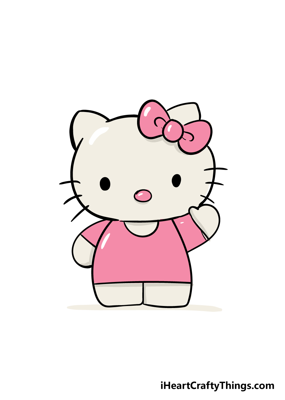 hello kitty drawing step 6