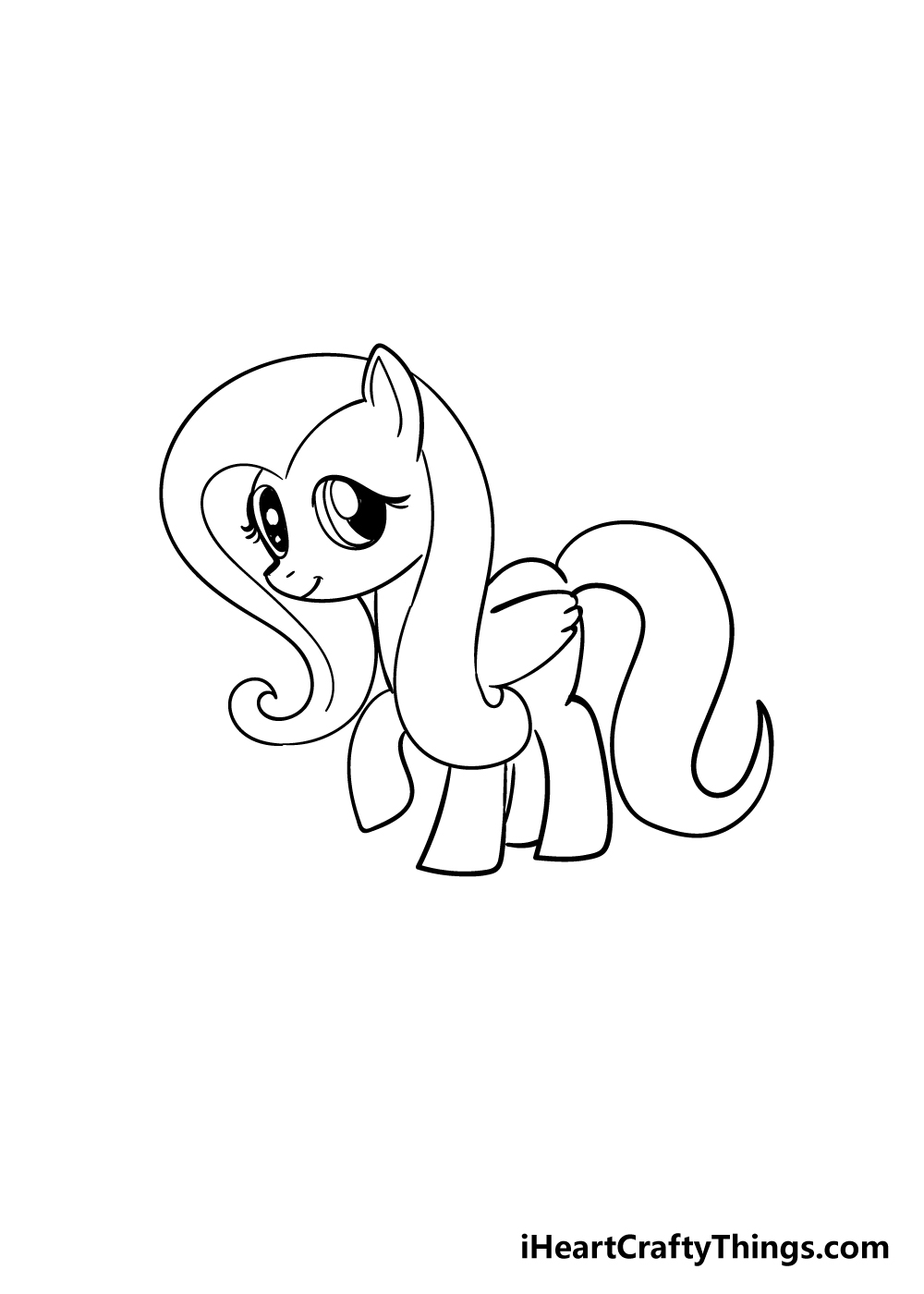 my little pony drawing step 6