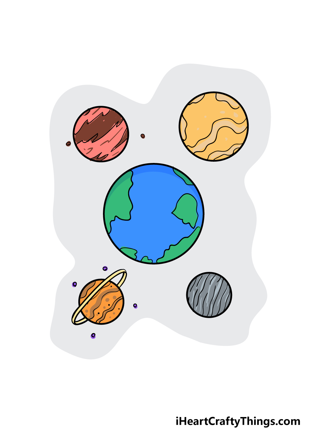 planets drawing step 6