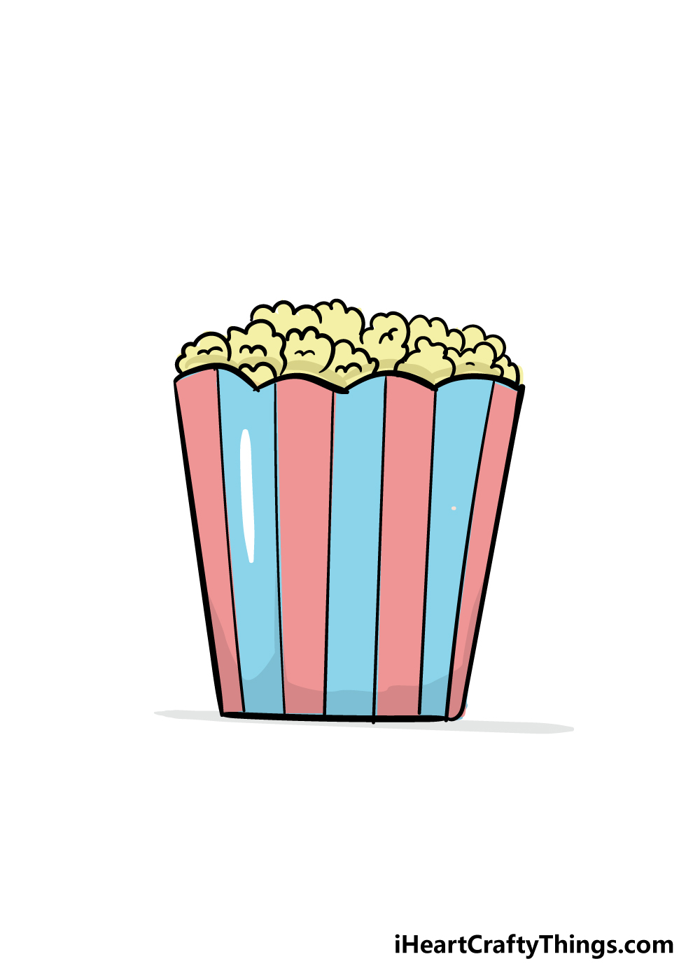 popcorn drawing step 6