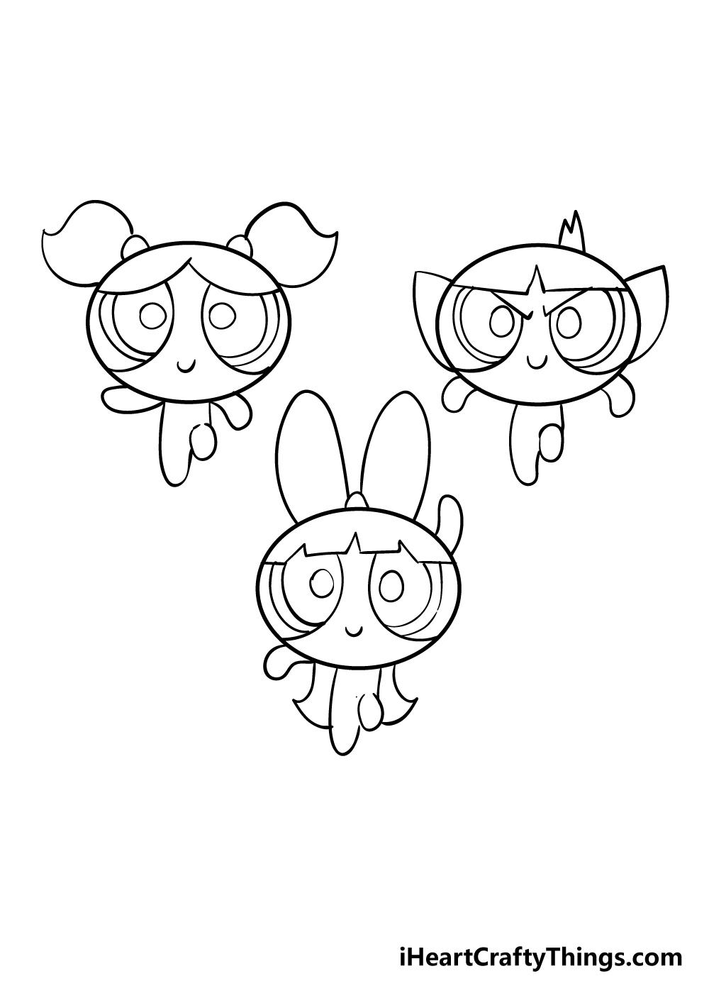 powerpuff girls drawing step 6