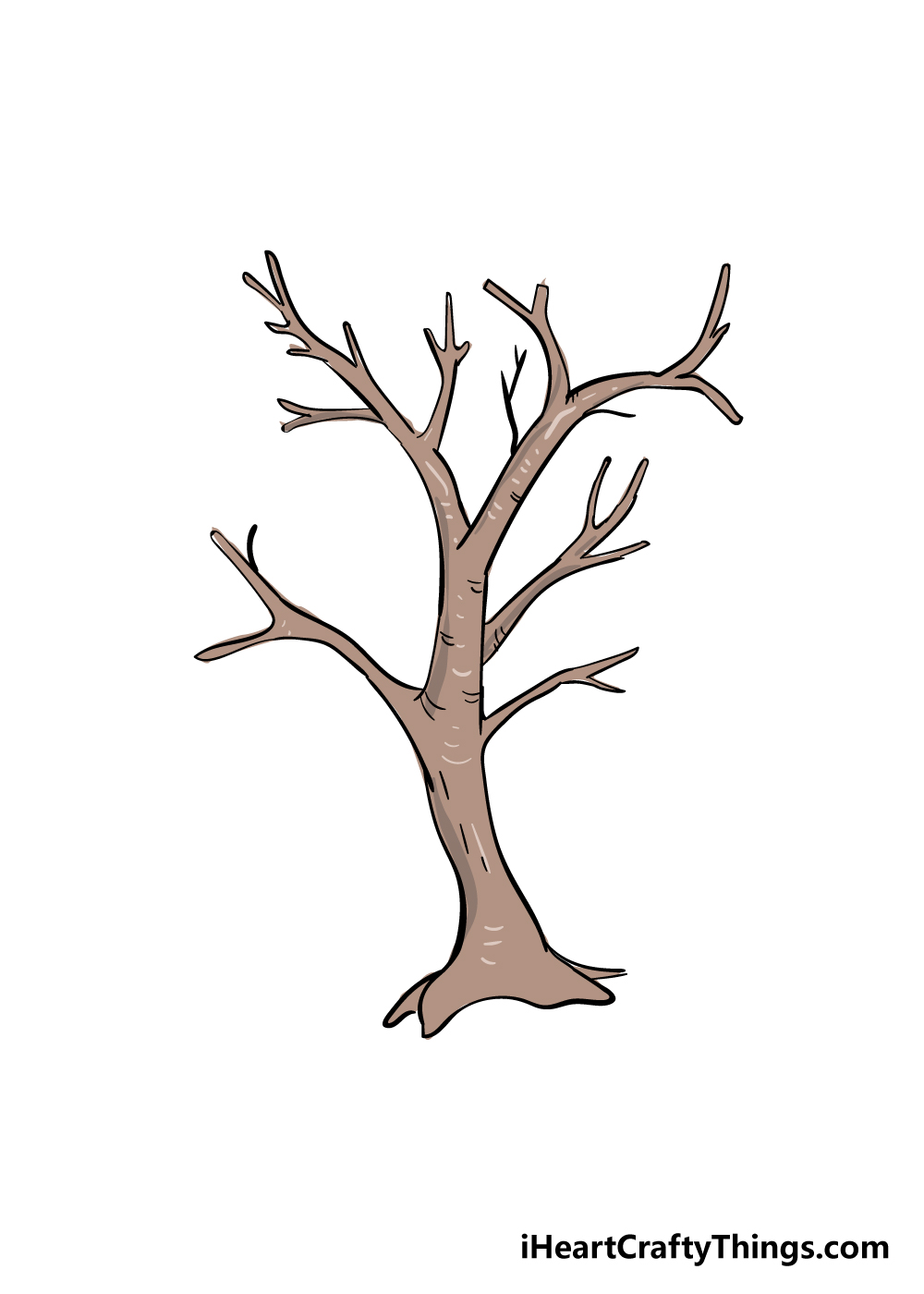 drawing branches step 6
