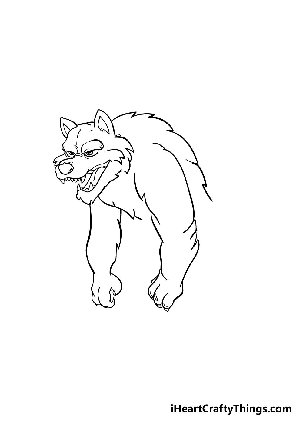 werewolf drawing step 6
