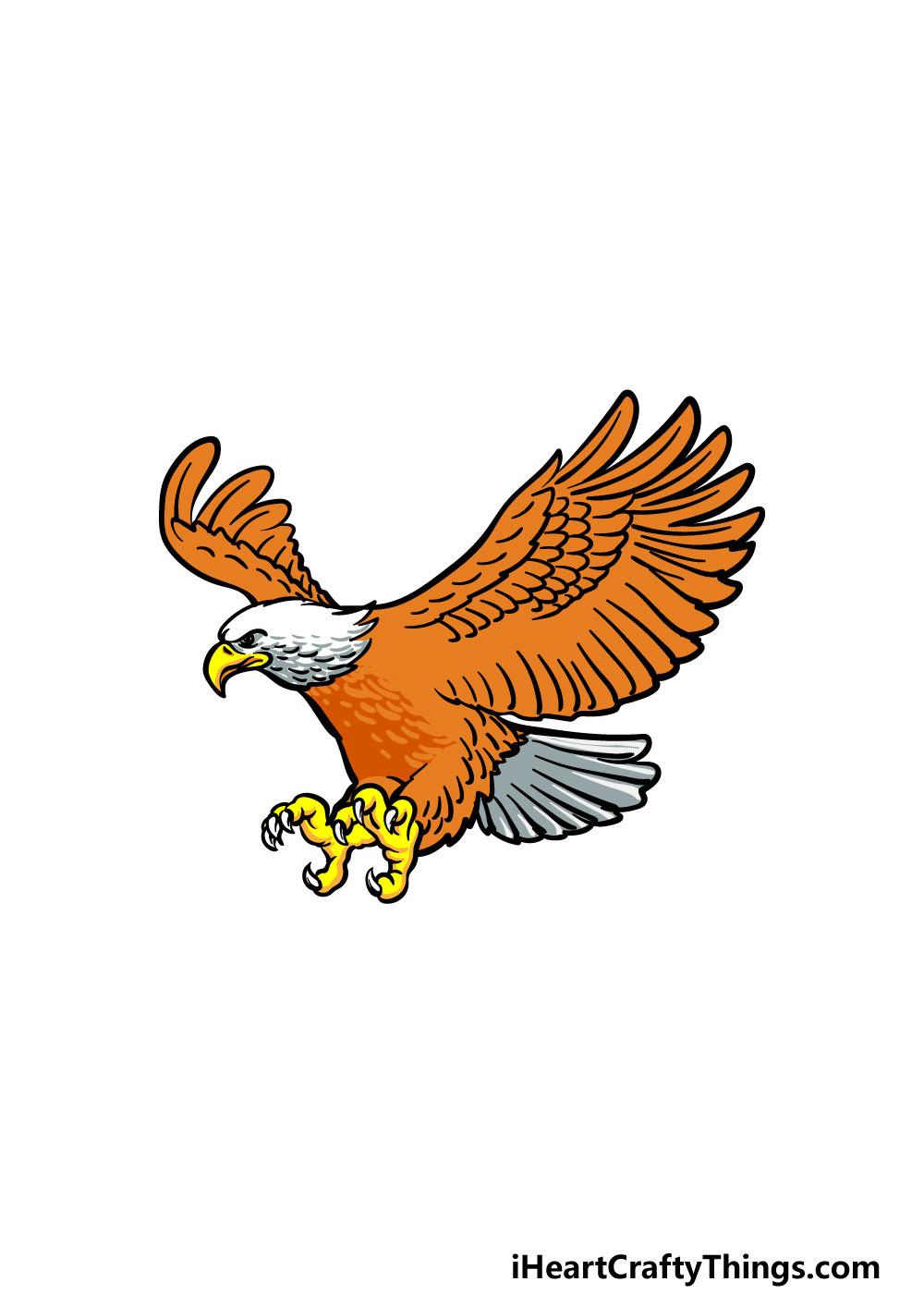 bald eagle drawing step 6