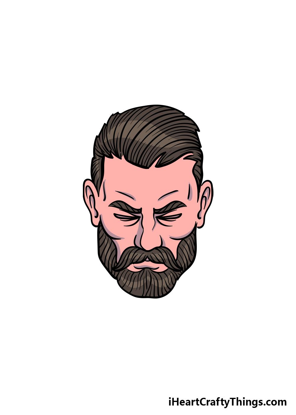 drawing a beard step 6