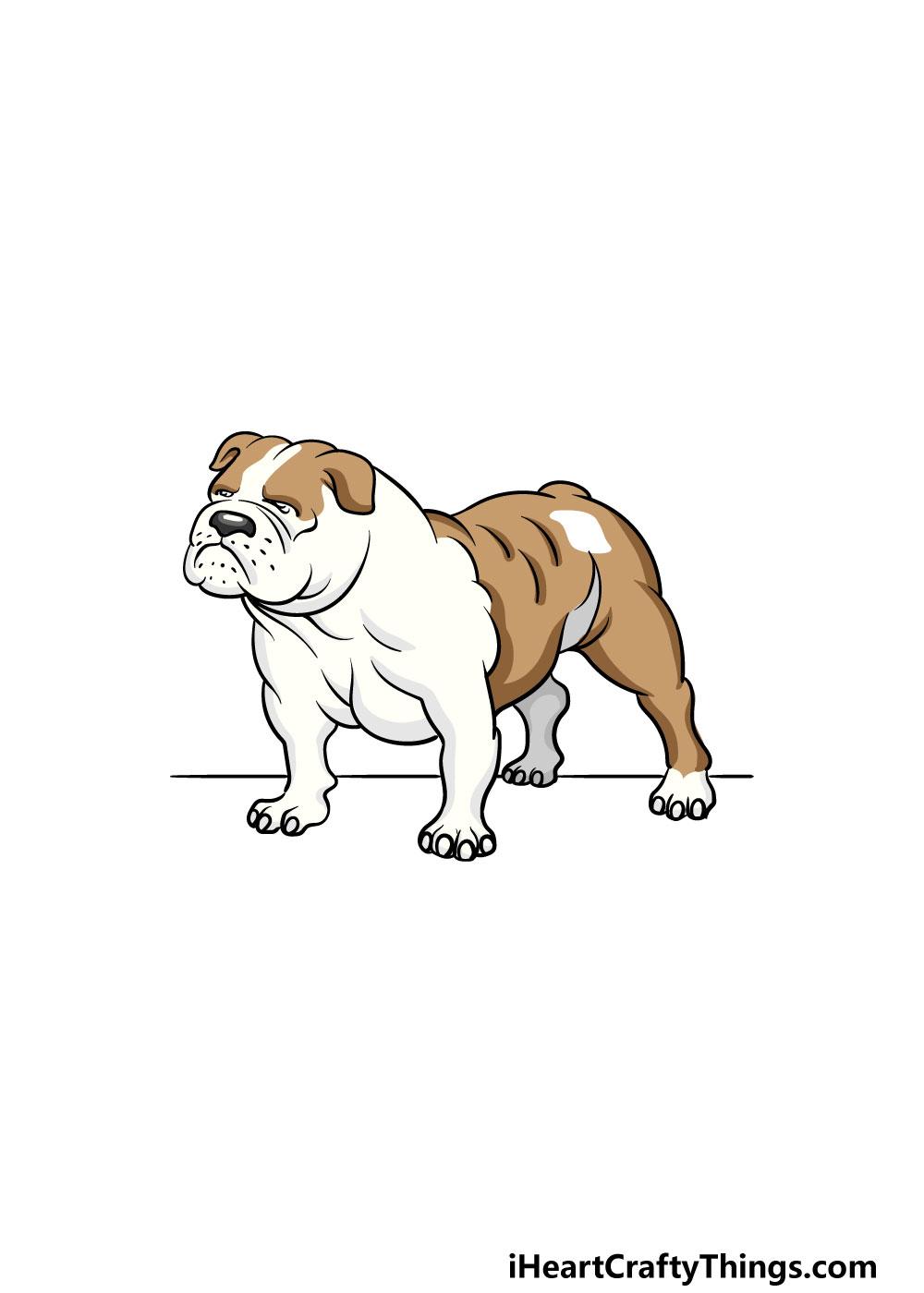 drawing bulldog step 6