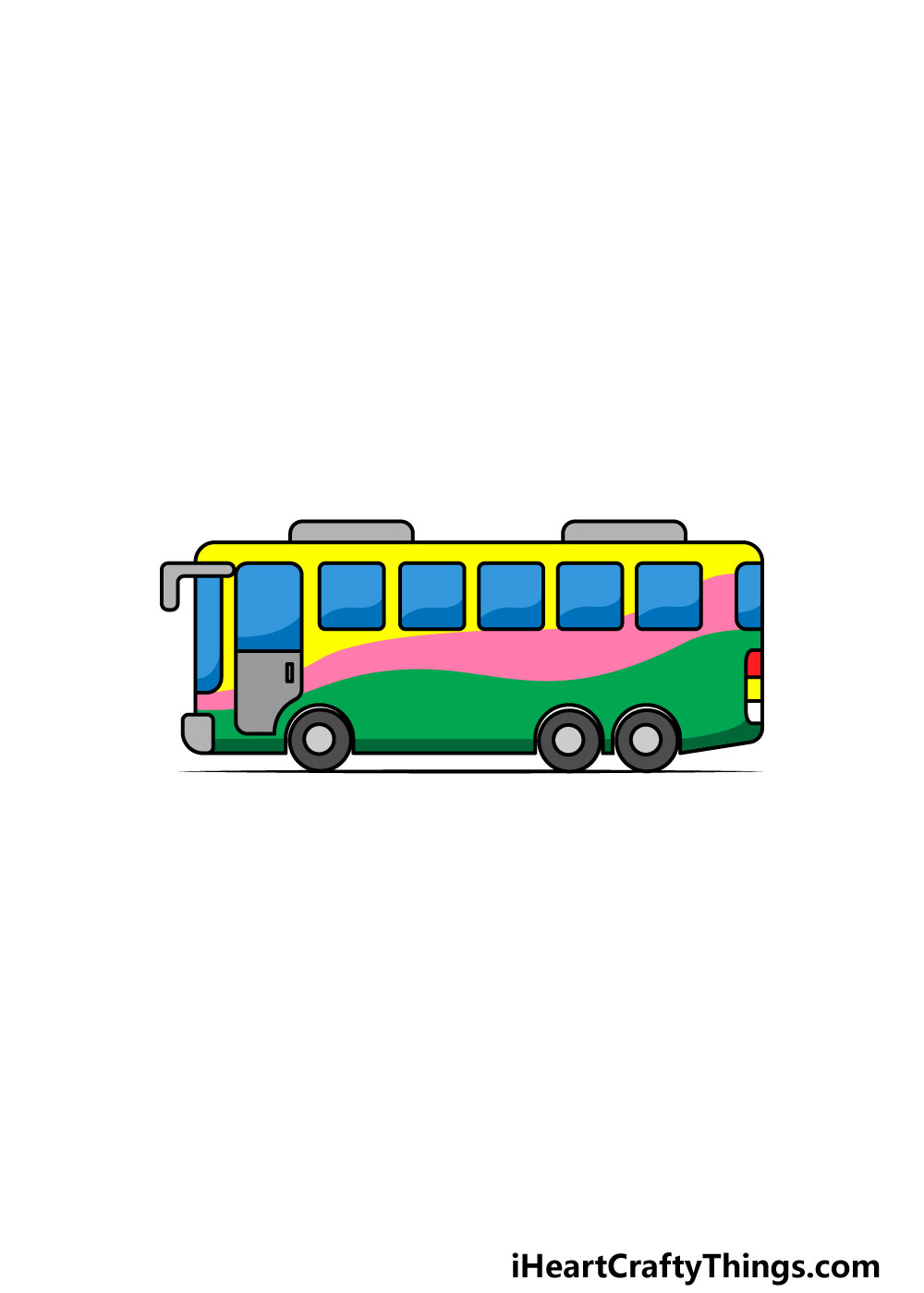 drawing a bus step 6