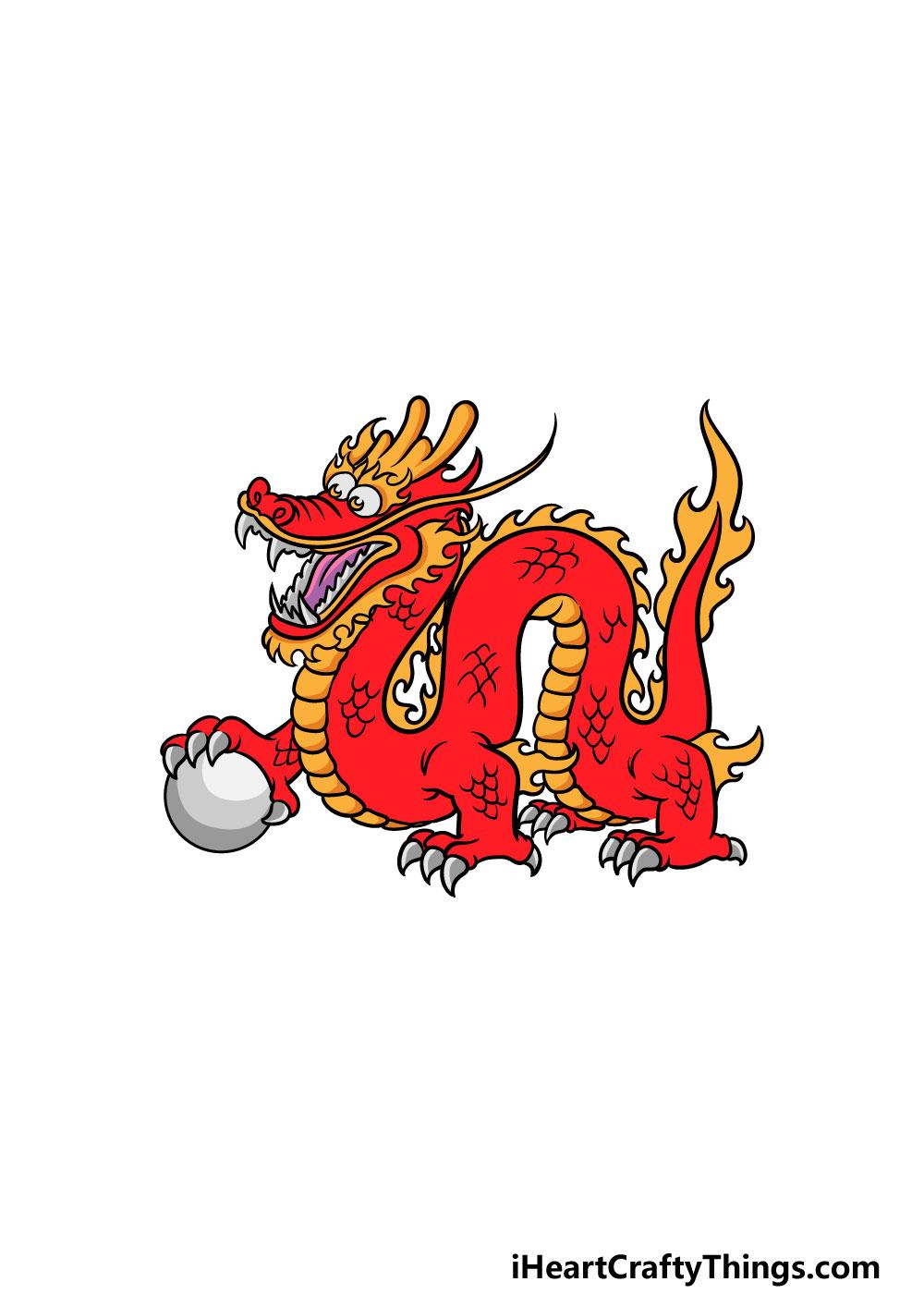 drawing Chinese dragon step 6