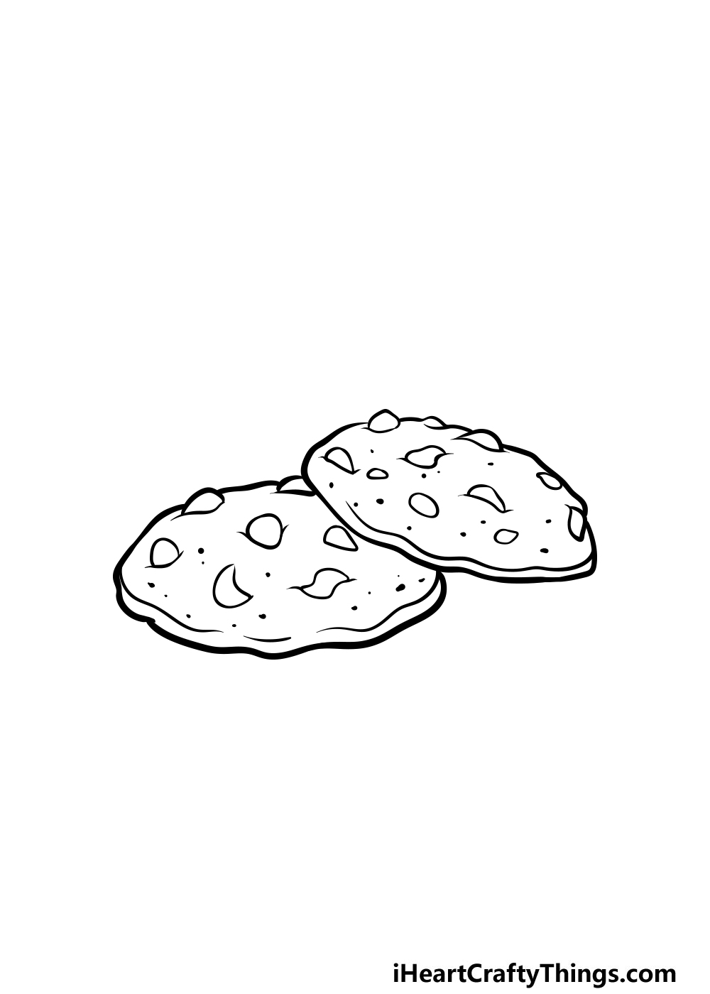 drawing a cookie step 6