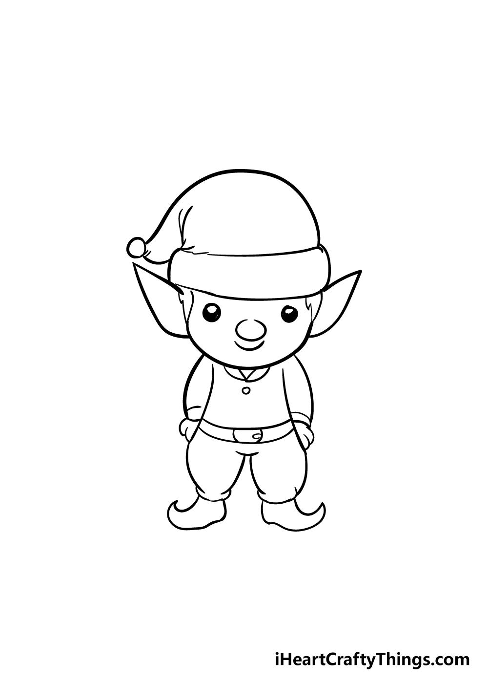 elf drawing step 6