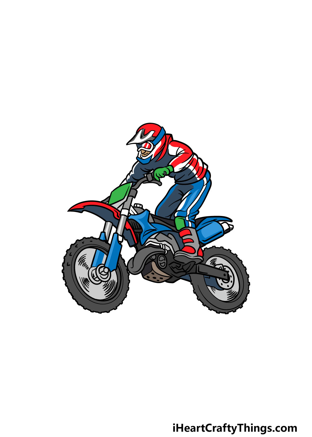 drawing a dirt bike step 6