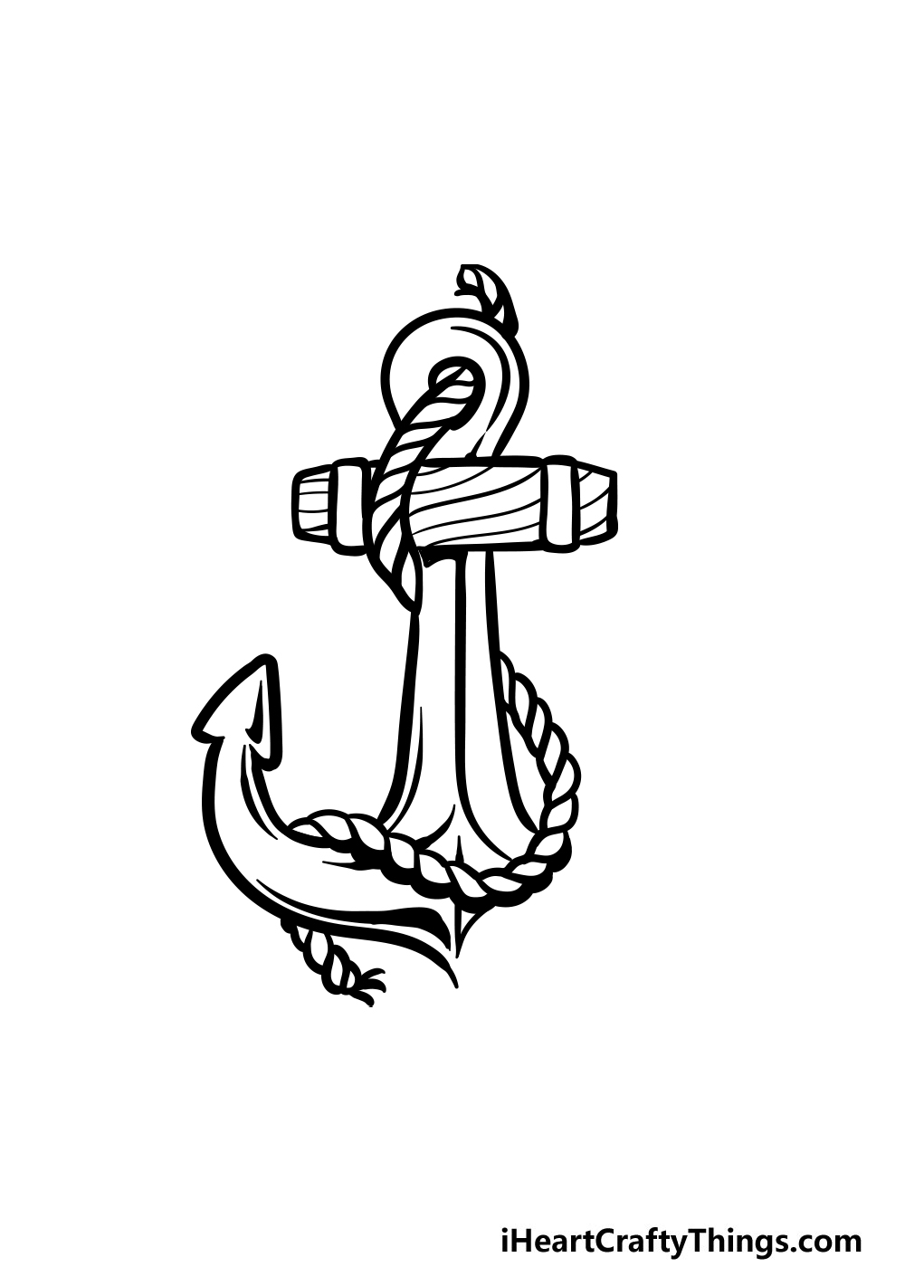 drawing an anchor step 6