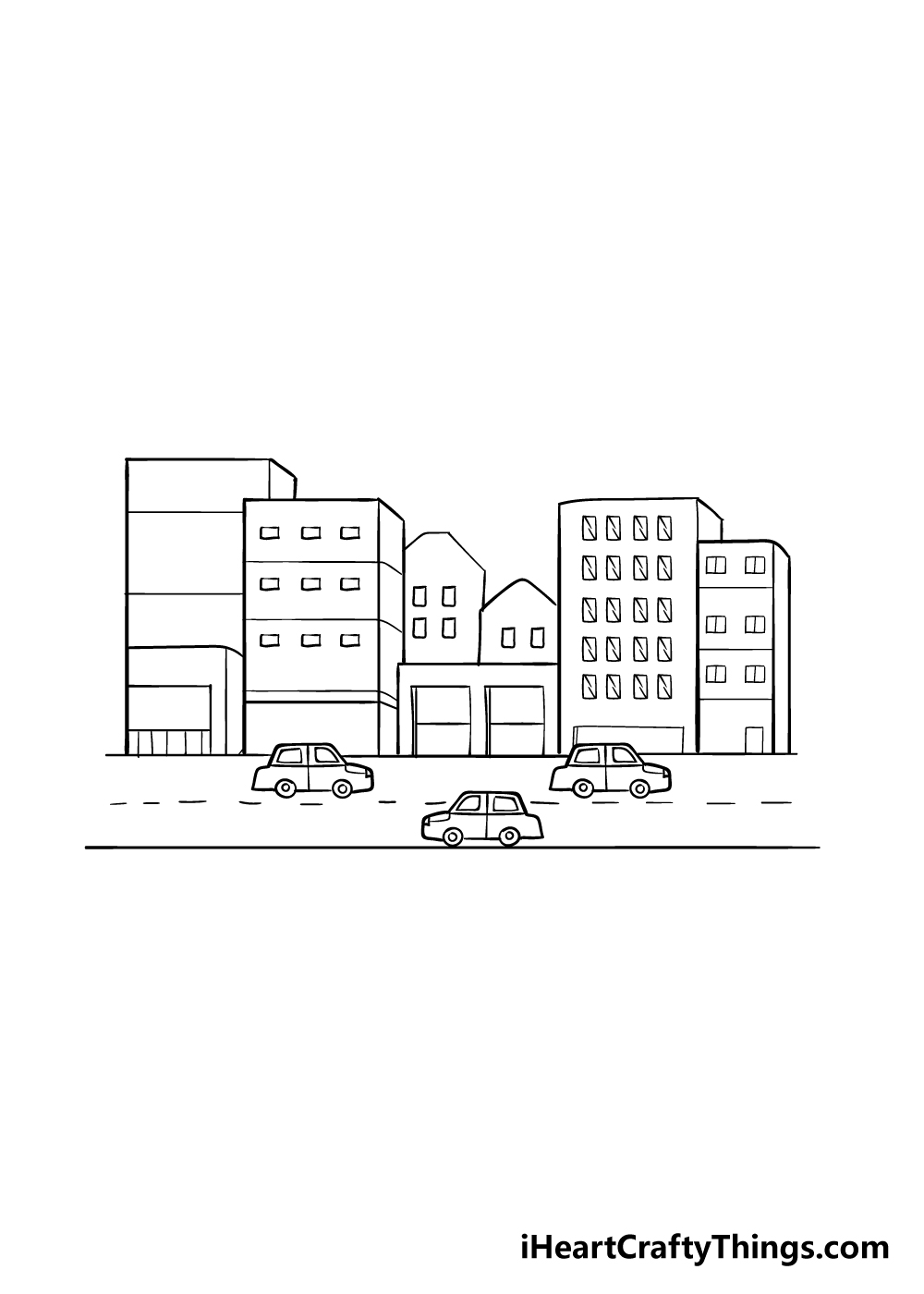 drawing a city step 6