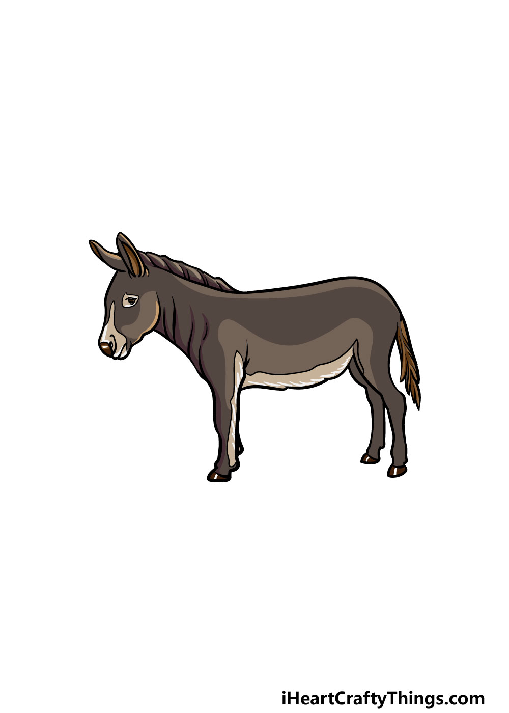 drawing a donkey step 6