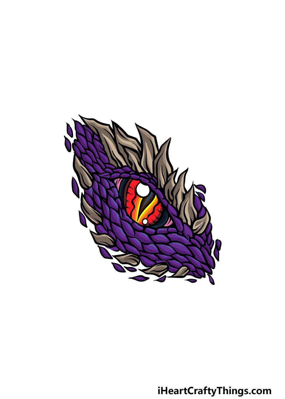 drawing a dragon eye step 6