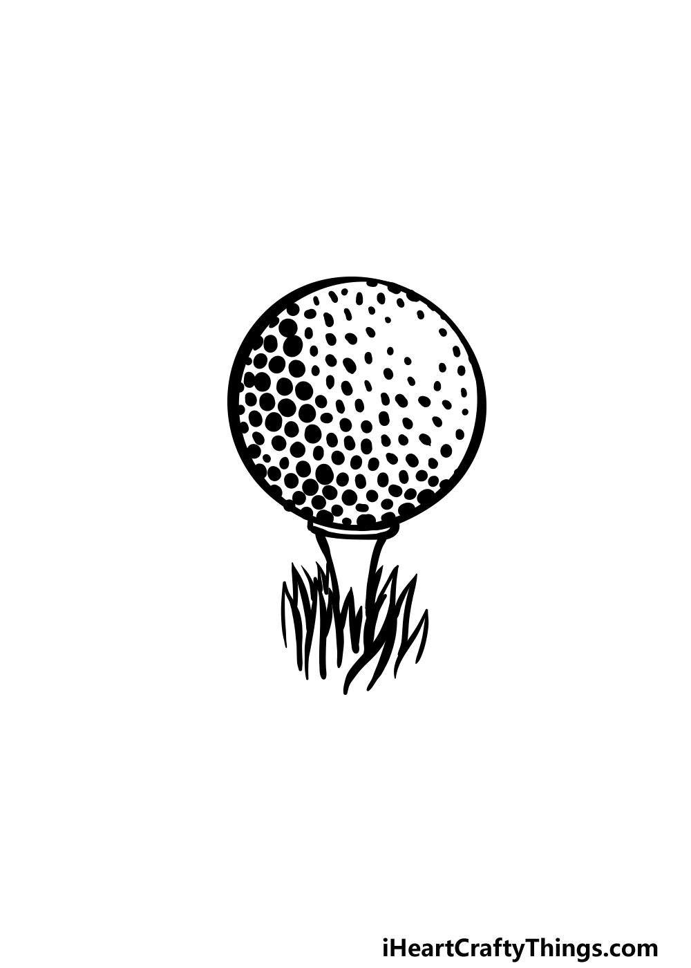 drawing a golf ball step 6