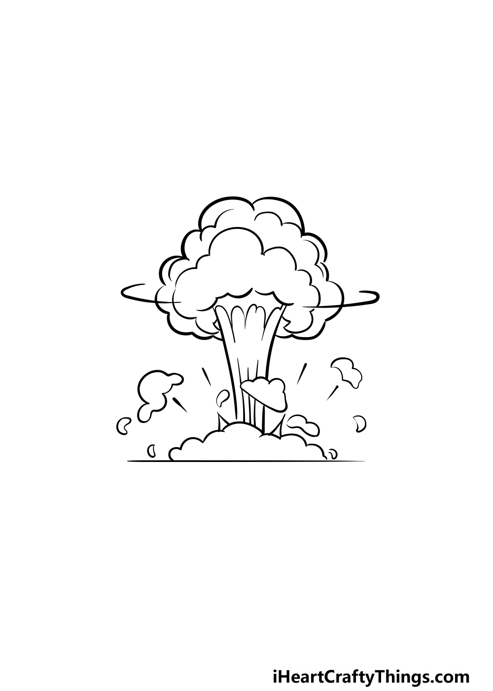 drawing an explosion step 6