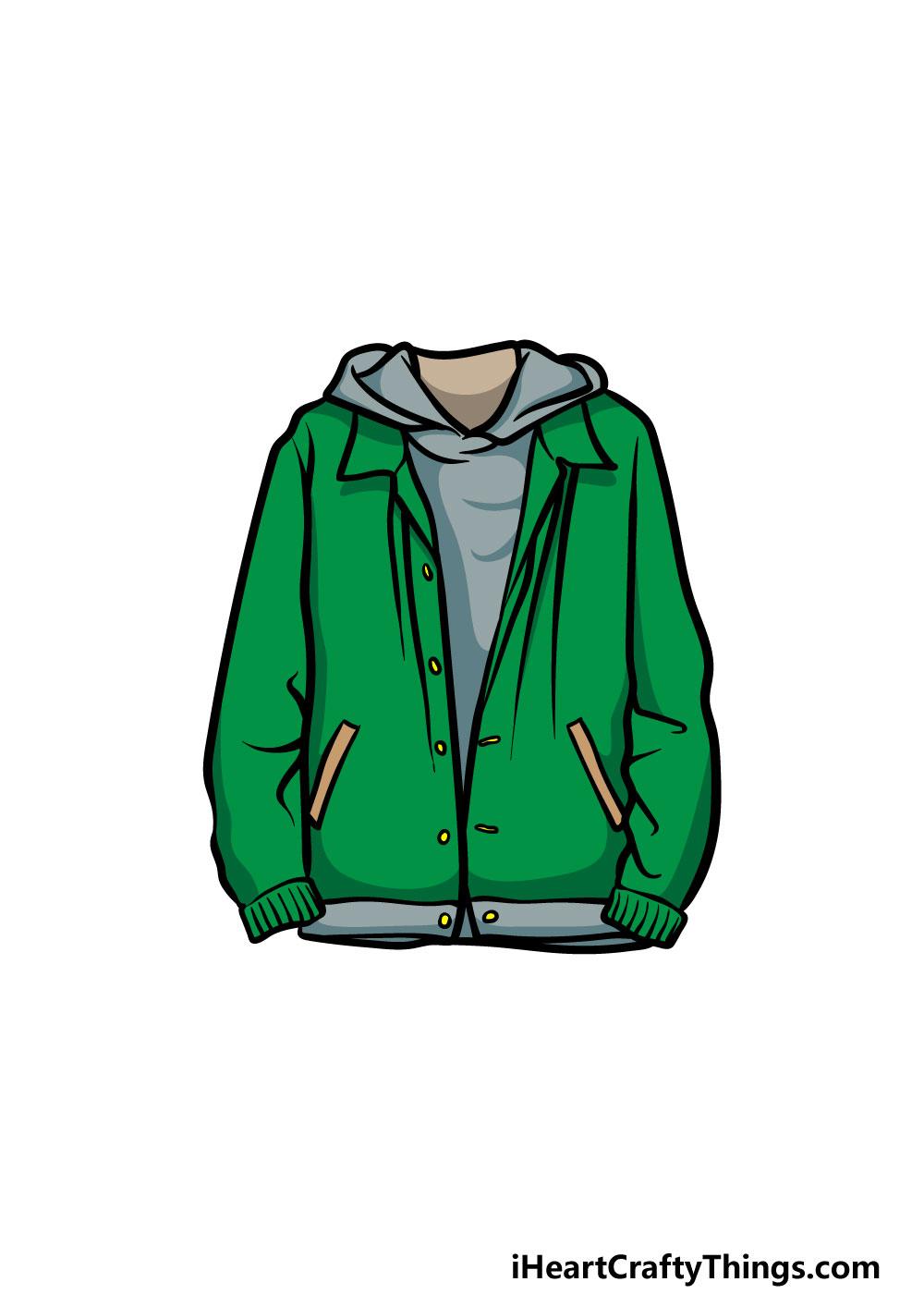 drawing a jacket step 6