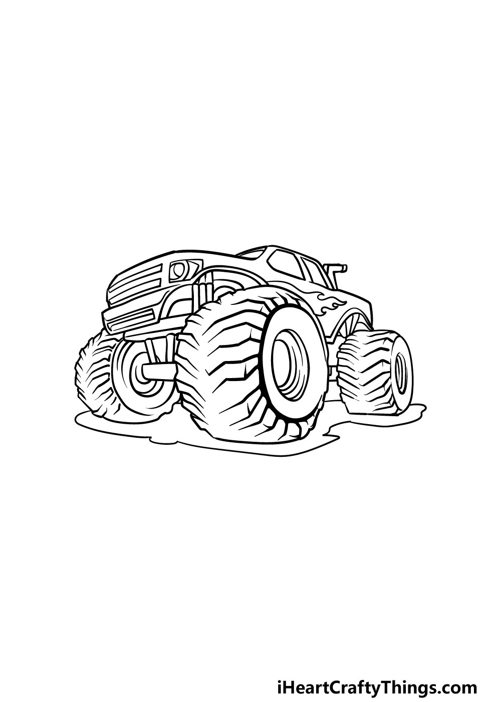 drawing a monster truck step 6