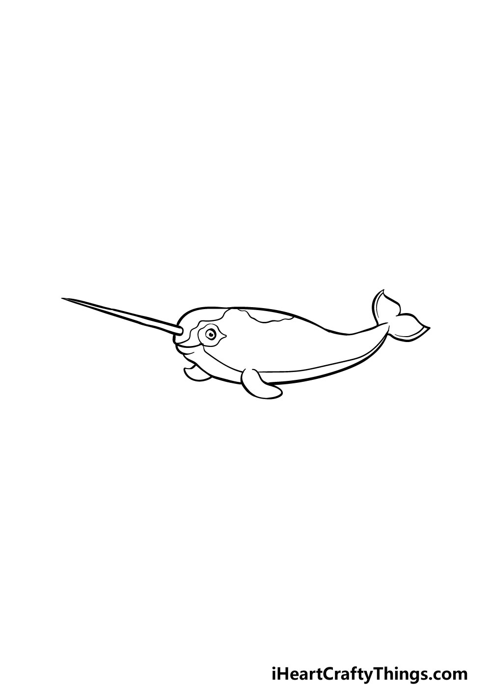 drawing a narwhal step 6