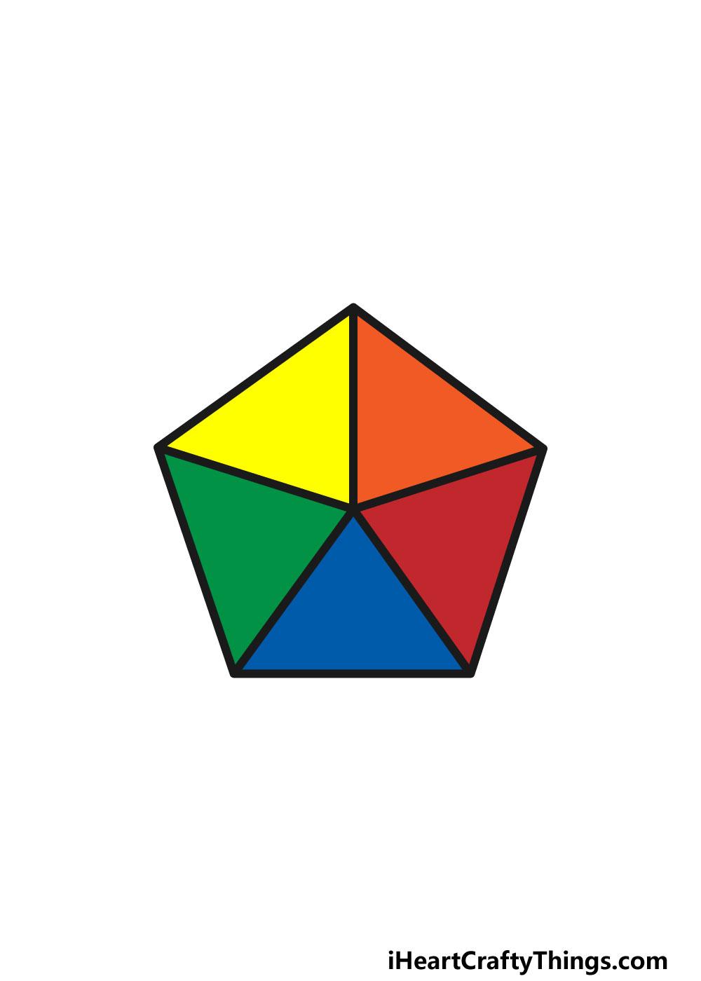 drawing a pentagon step 6