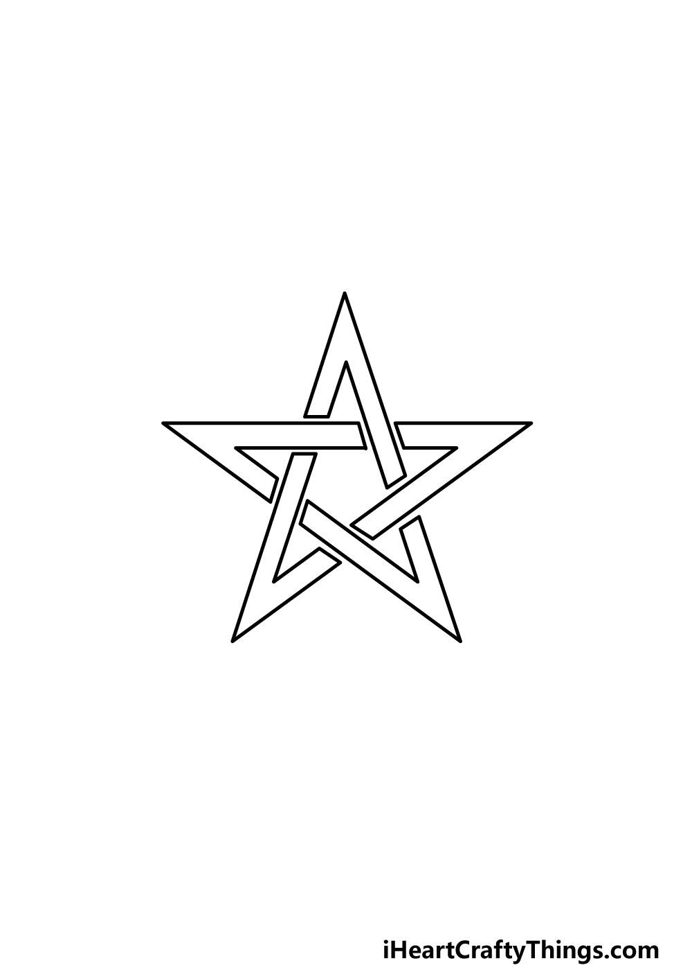 drawing a pentagram step 6