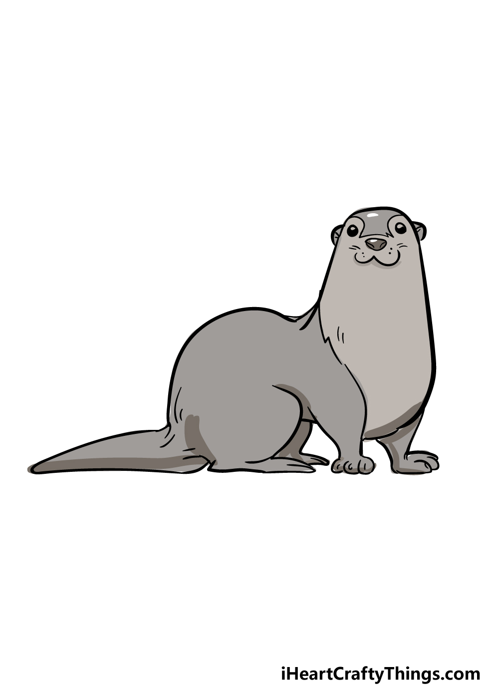 otter drawing step 6