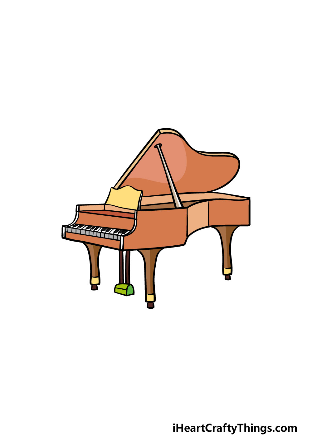 drawing a piano step 6