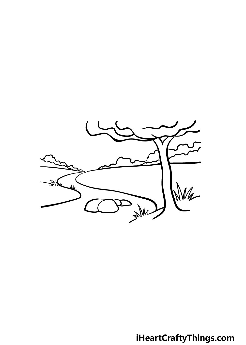 drawing a river step 6