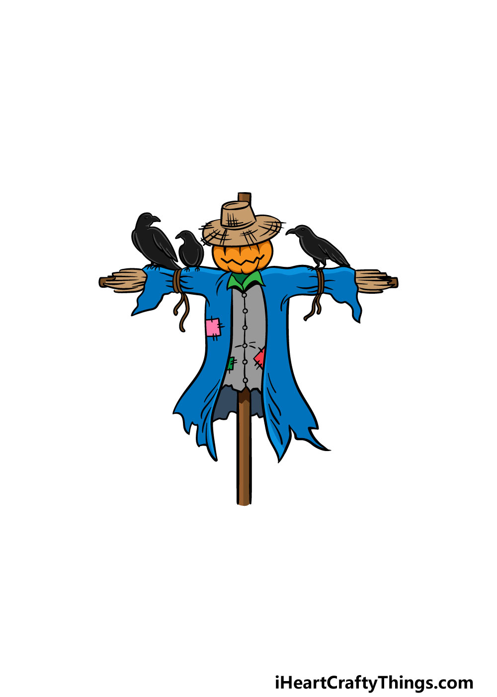 drawing a scarecrow step 6