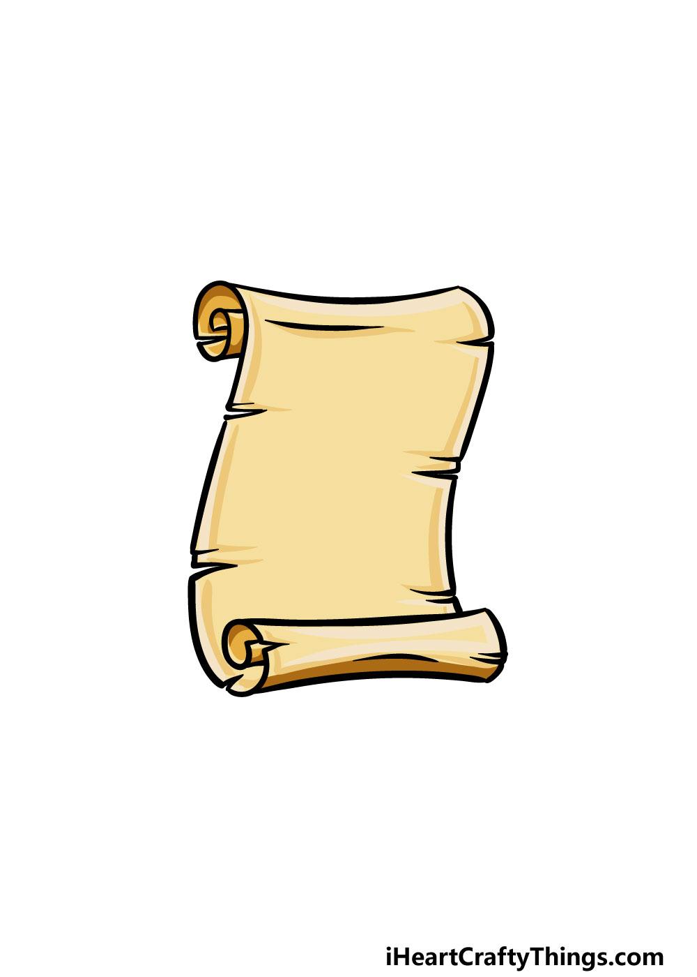 drawing a scroll step 6