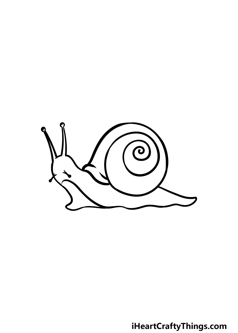 drawing a snail step 6