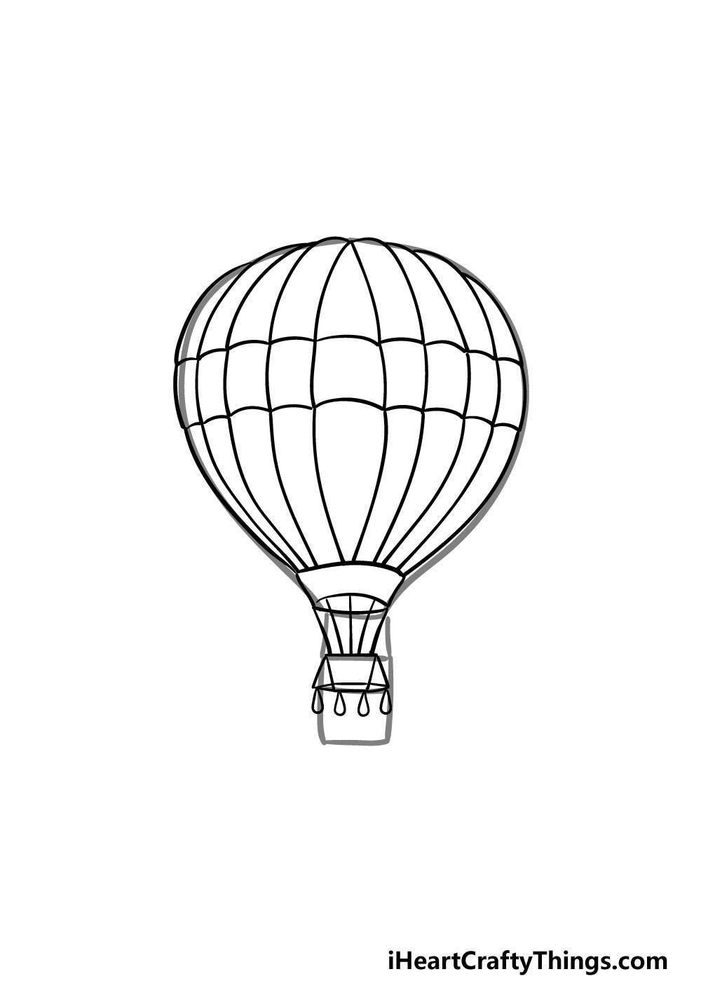 drawing a hot air balloon step 6