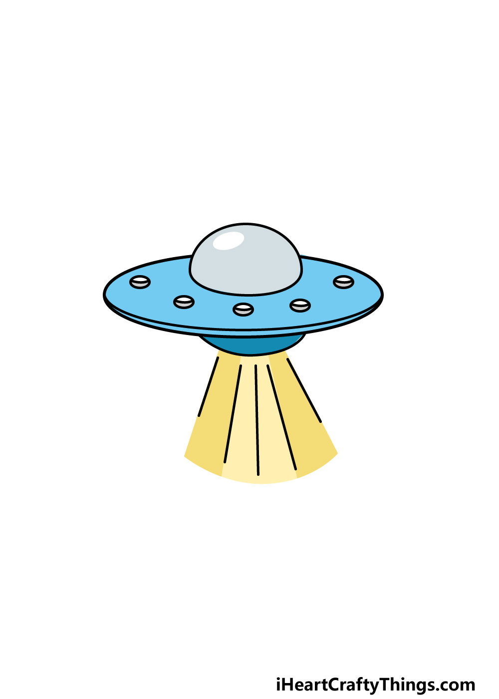 drawing a UFO step 6