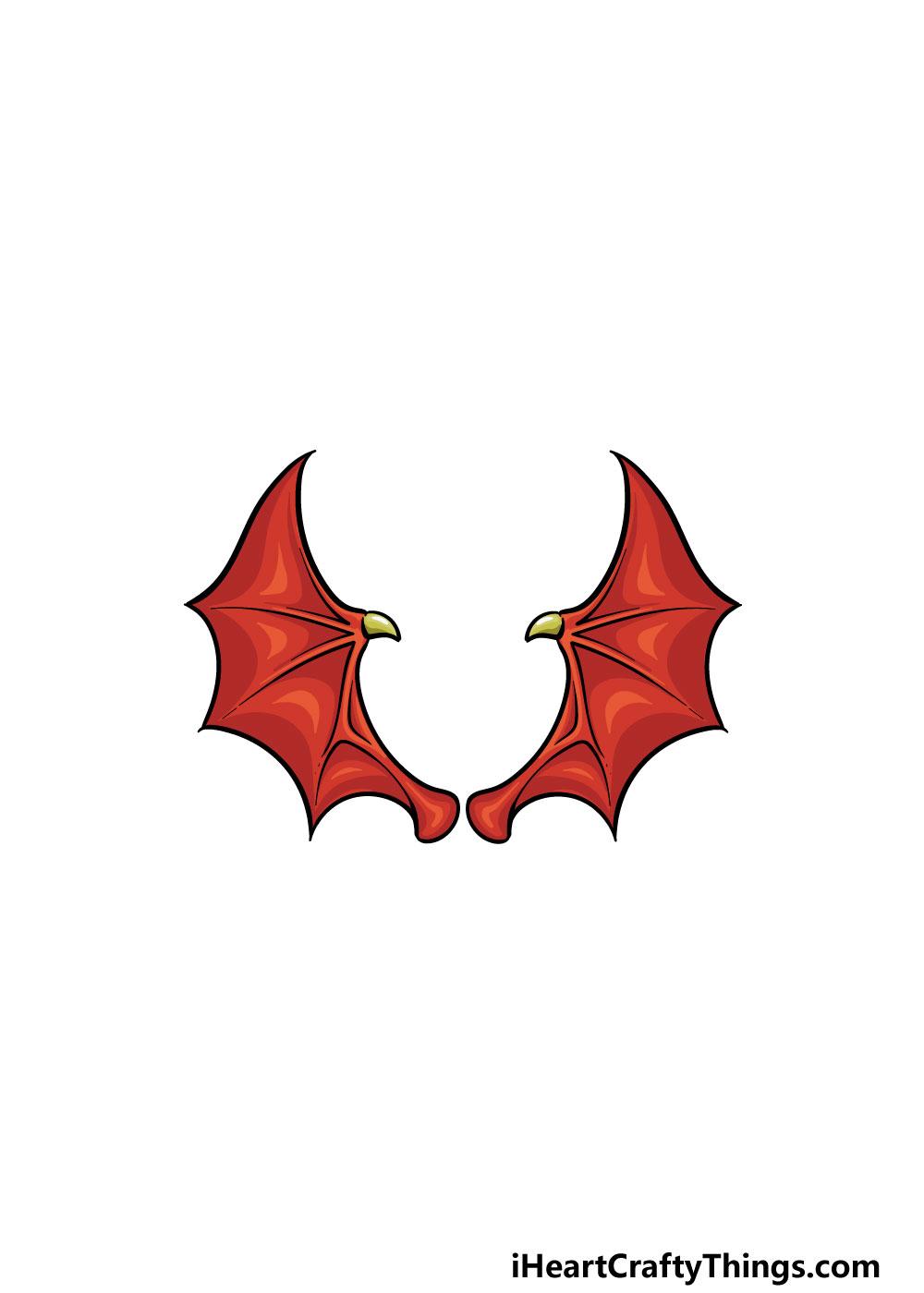 drawing dragon wings step 6