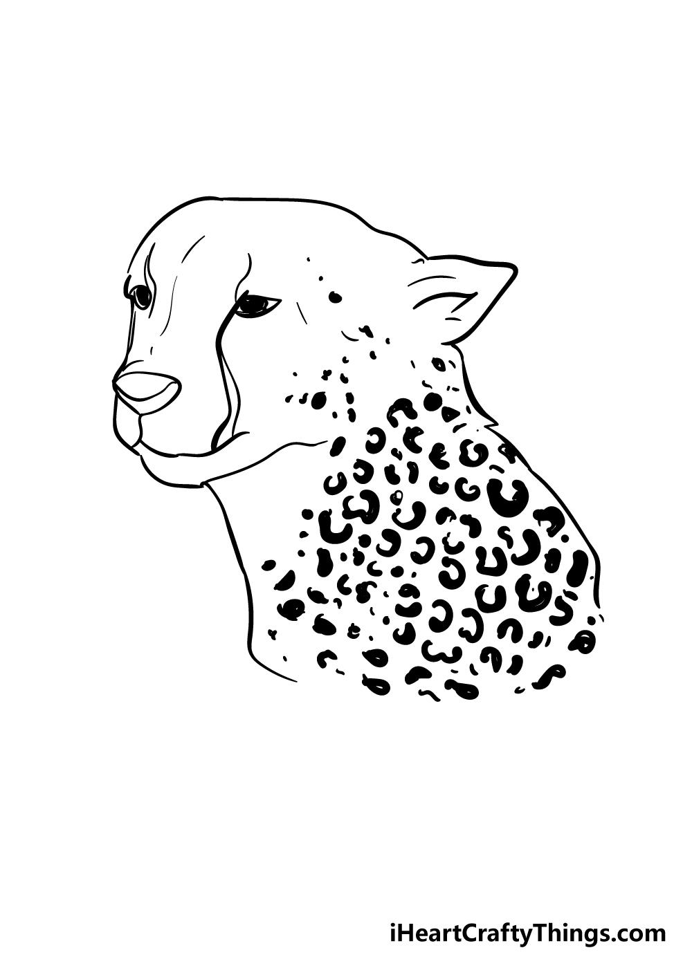 cheetah print drawing step 6