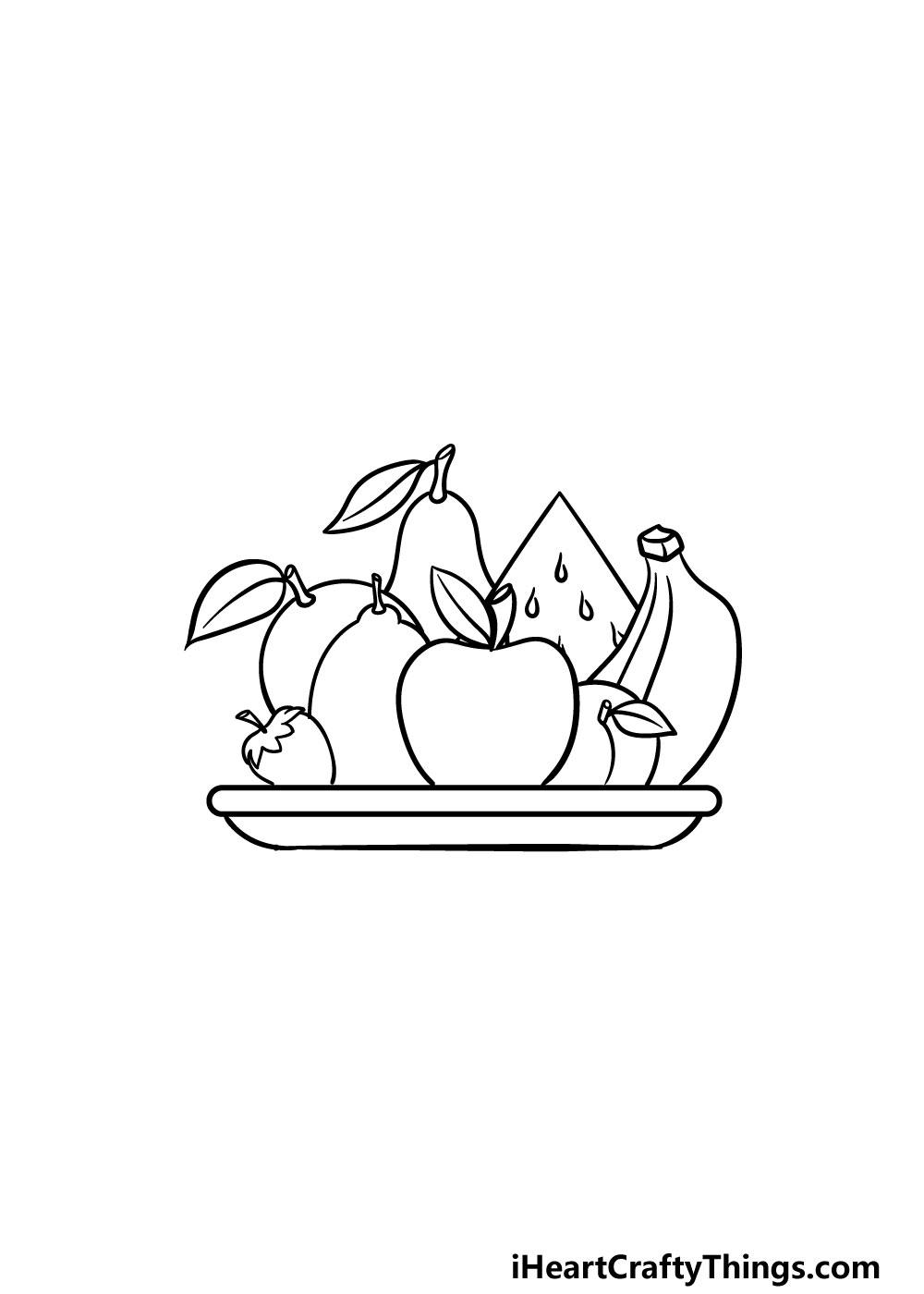 drawing fruits step 6