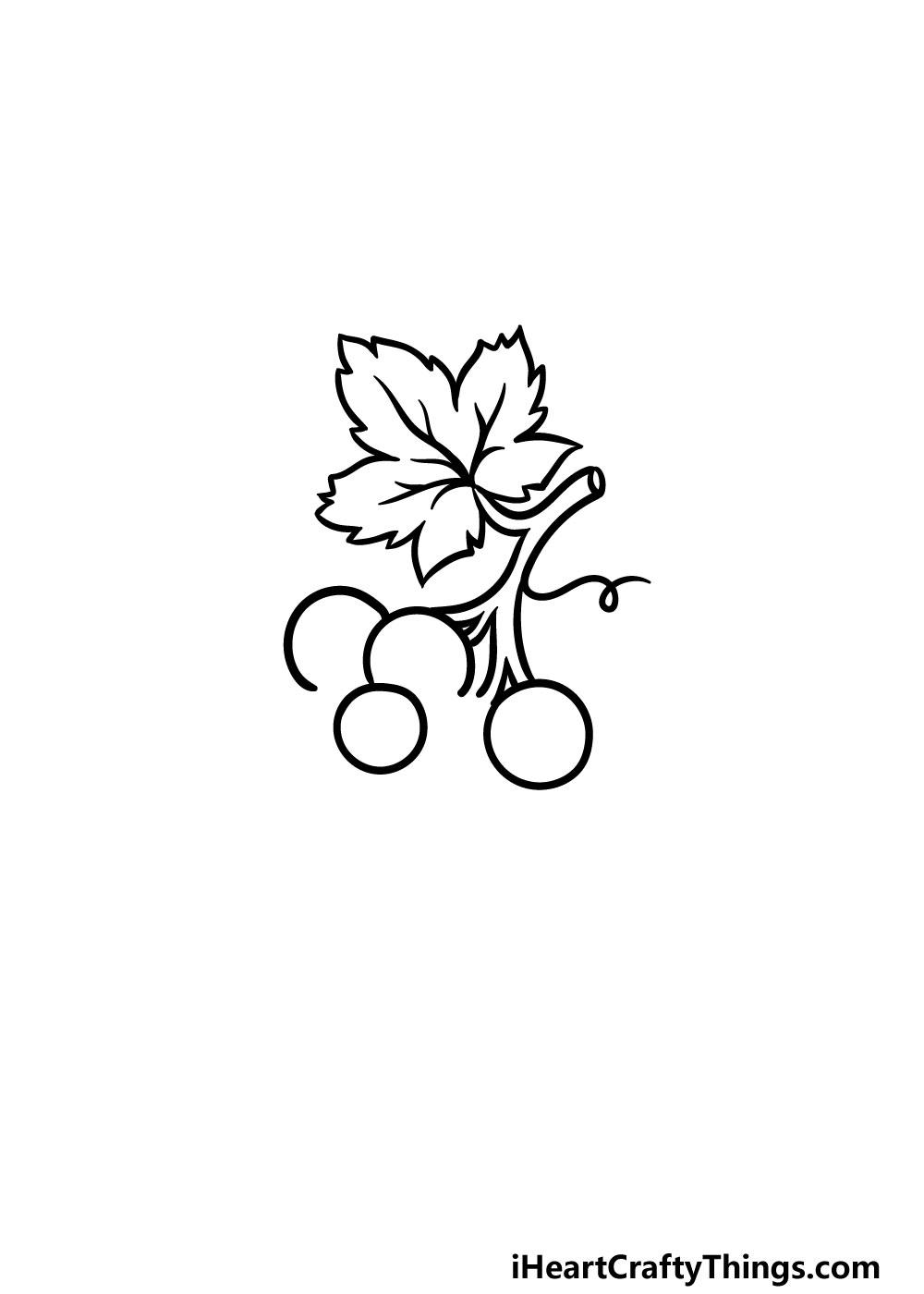 drawing grapes step 6