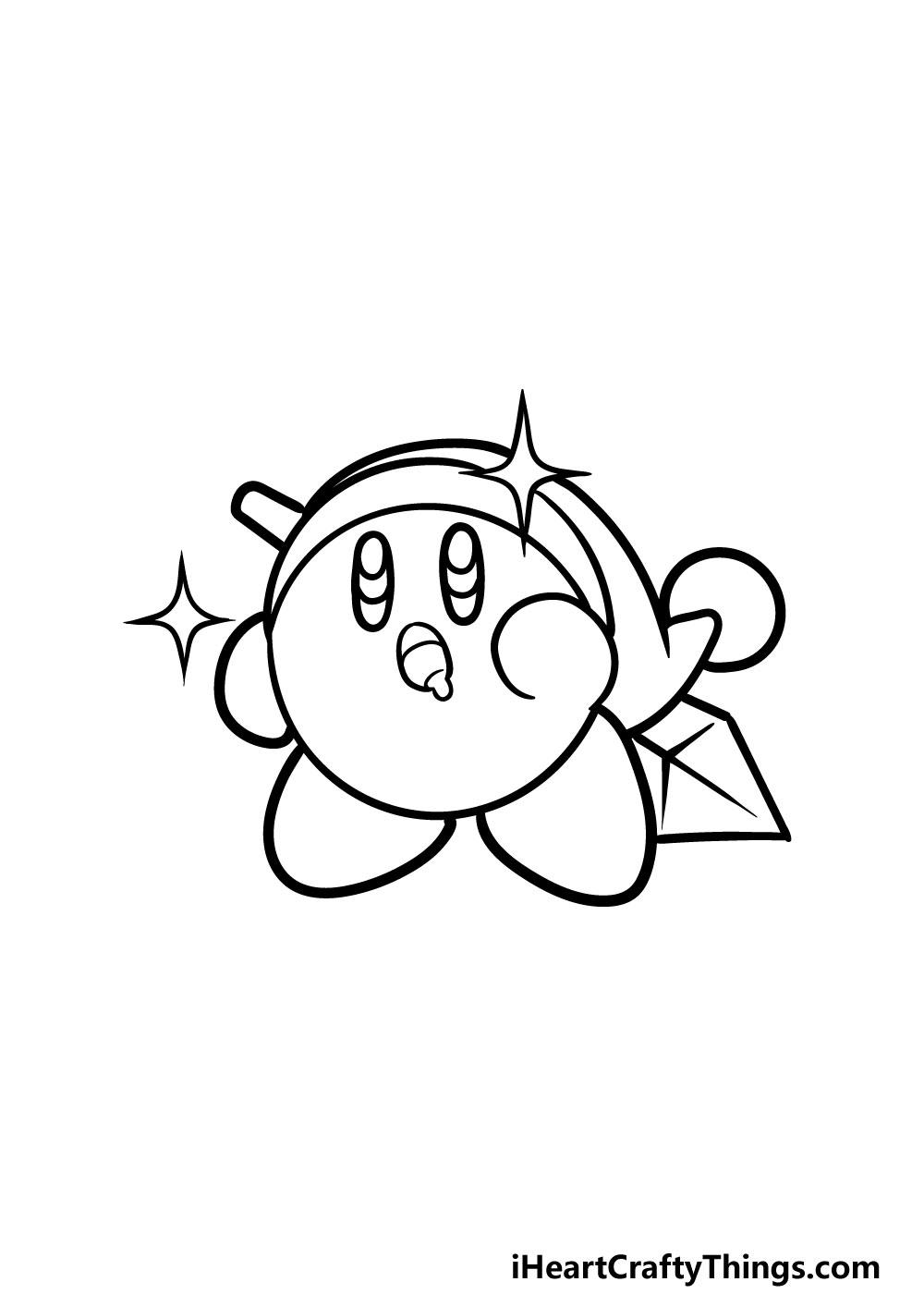 drawing kirby step 6
