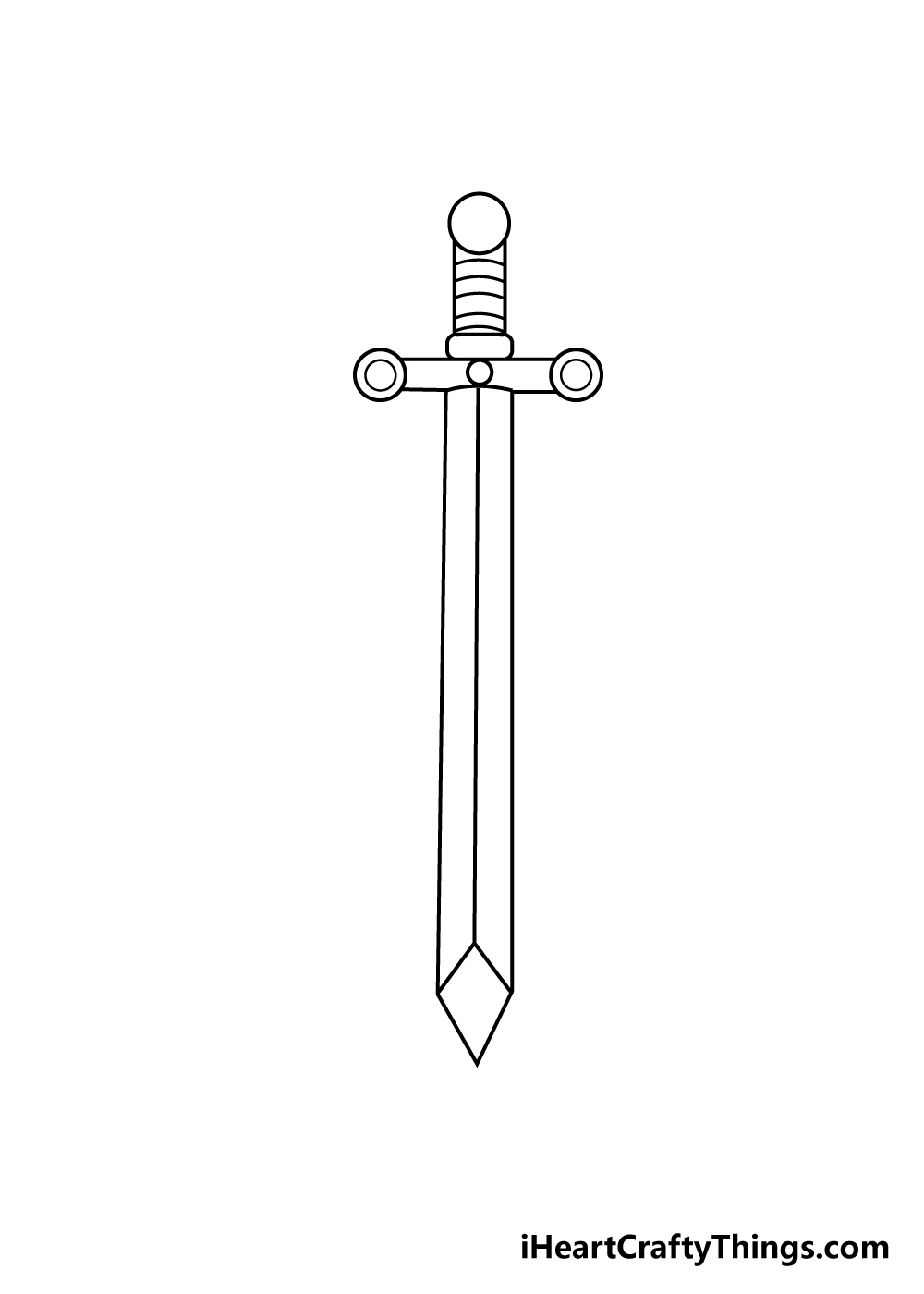 sword drawing step 6